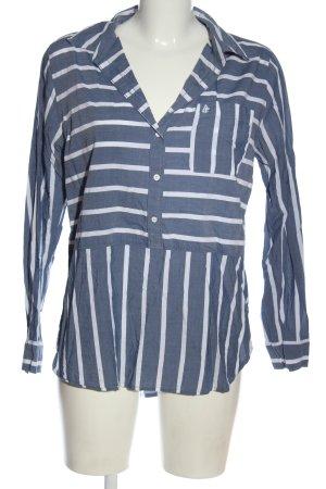 Abercrombie & Fitch Hemd-Bluse blau-weiß Allover-Druck Elegant