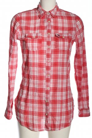 Abercrombie & Fitch Hemd-Bluse rot-weiß Karomuster Casual-Look