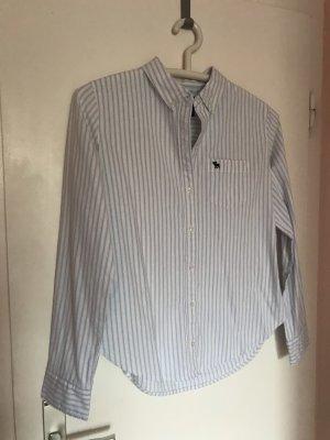 Abercrombie & Fitch Hemd/Bluse S/36 hellblau gestreift