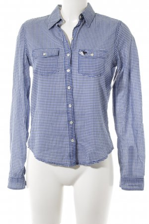 Abercrombie & Fitch Hemd-Bluse weiß-blau Blumenmuster Casual-Look