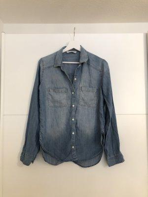 Abercrombie & Fitch Chemise en jean bleu azur-bleuet