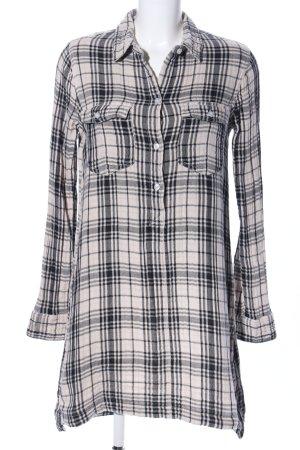 Abercrombie & Fitch Hemdblousejurk zwart-wit geruite print zakelijke stijl