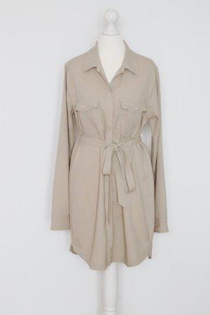 Abercrombie & Fitch Hemdkleid Gr. S beige/braun