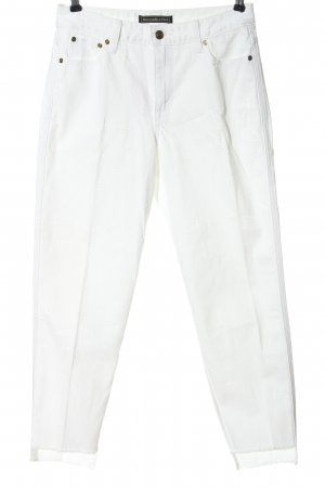 Abercrombie & Fitch High Waist Trousers white casual look