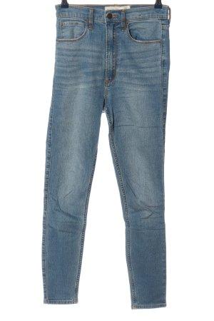 Abercrombie & Fitch Jeans taille haute bleu style décontracté
