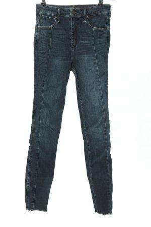 Abercrombie & Fitch Jeans a vita alta blu stile casual