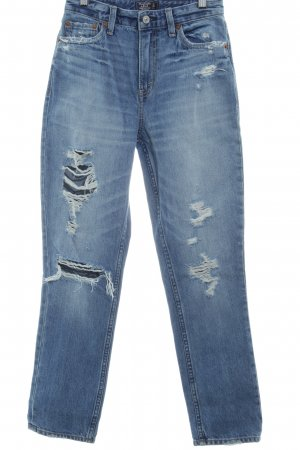Abercrombie & Fitch Hoge taille jeans blauw ontspannen stijl