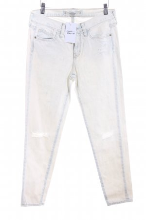 Abercrombie & Fitch Hoge taille jeans licht beige-azuur casual uitstraling