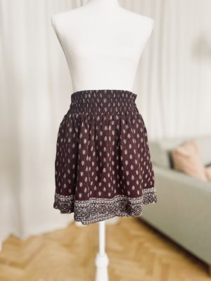 Abercrombie & Fitch High Waist Skirt brown violet cotton