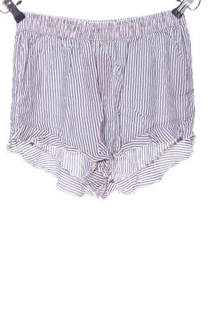 Abercrombie & Fitch High-Waist-Shorts weiß-blau Streifenmuster Casual-Look