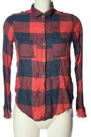 Abercrombie & Fitch Holzfällerhemd rot-blau Allover-Druck Casual-Look