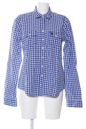 Abercrombie & Fitch Holzfällerhemd blau-weiß Karomuster Casual-Look