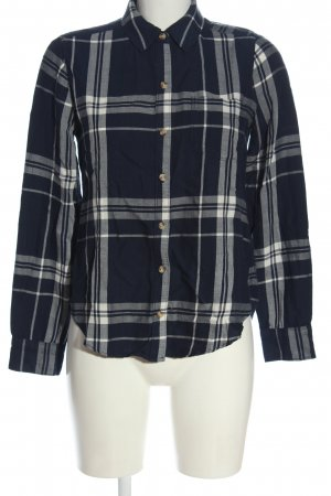 Abercrombie & Fitch Holzfällerhemd blau-weiß Allover-Druck Casual-Look