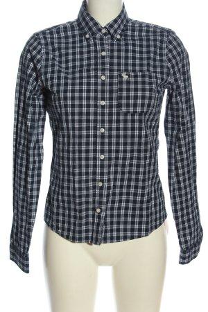 Abercrombie & Fitch Holzfällerhemd schwarz-weiß Allover-Druck Casual-Look