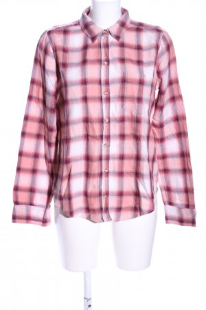 Abercrombie & Fitch Holzfällerhemd pink-weiß Karomuster Casual-Look