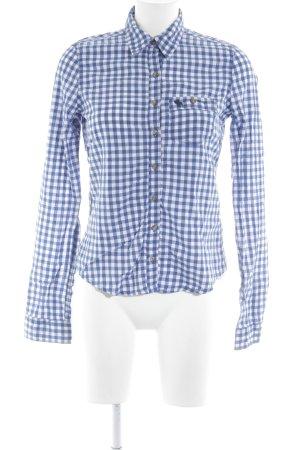 Abercrombie & Fitch Holzfällerhemd weiß-blau Karomuster Casual-Look