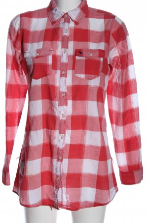 Abercrombie & Fitch Lumberjack Shirt white-red allover print casual look