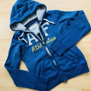 Abercrombie & Fitch Hoodie Gr M kapuzenjacke blau grau