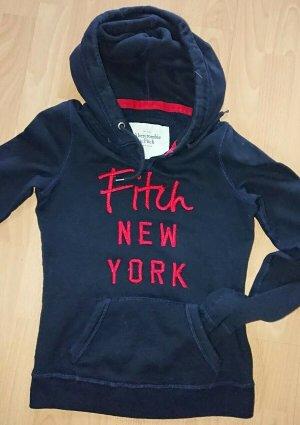 Abercrombie fitch, Hoodie, Gr. XS, Blau,mit Pink, Kapuze, Fitch New York