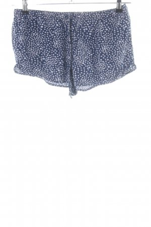 Abercrombie & Fitch Hot Pants blau-weiß Allover-Druck Casual-Look