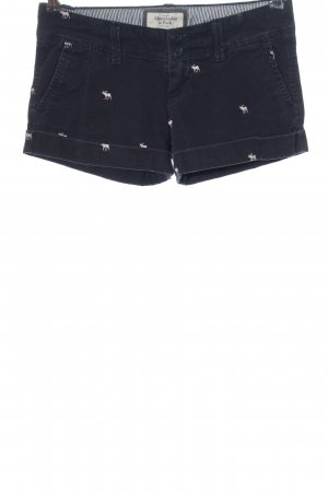 Abercrombie & Fitch Hot pants blauw prints met een thema casual uitstraling