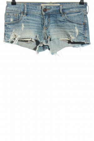 Abercrombie & Fitch Hot pants blauw casual uitstraling