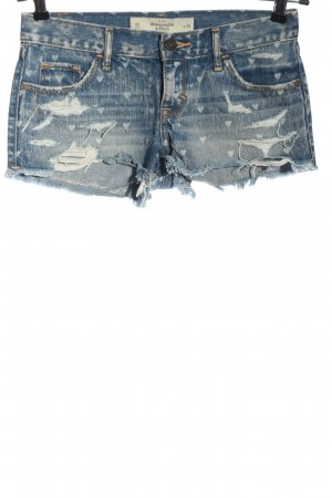 Abercrombie & Fitch Hot pants blauw grafisch patroon straat-mode uitstraling
