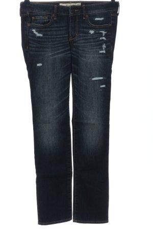 Abercrombie & Fitch Jeans vita bassa blu stile casual