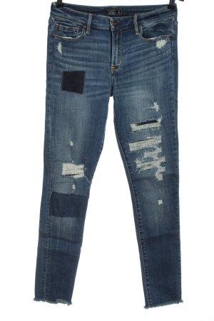 Abercrombie & Fitch Jeans taille basse bleu style décontracté