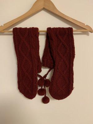 Abercrombie & Fitch Pantoufles-chaussette bordeau