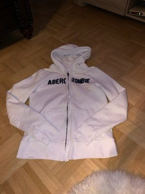Abercrombie & Fitch Chaqueta de tela de sudadera blanco