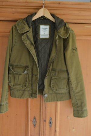 Abercrombie & Fitch Jacke olivgrün Gr. M washed Optik, kaum getragen