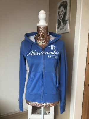 Abercrombie & Fitch Knitted Cardigan cornflower blue-white