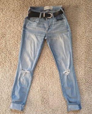 Abercrombie & Fitch Jeans vita bassa azzurro