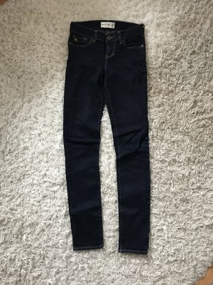 Abercrombie & Fitch Jeans dunkelblau Skinny Röhre