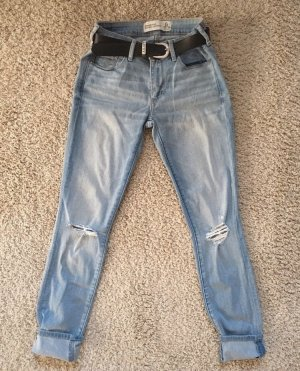 Abercrombie & Fitch Low Rise Jeans light blue