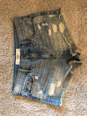Abercrombie & Fitch Jeans Short mit Perle