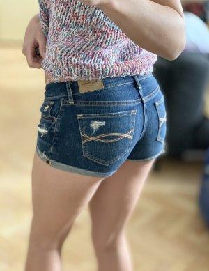 Abercrombie & Fitch Pantalón corto de tela vaquera azul oscuro Algodón