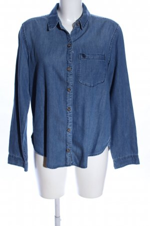 Abercrombie & Fitch Jeans blouse blauw casual uitstraling