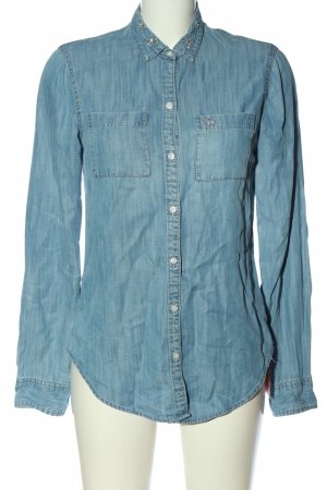 Abercrombie & Fitch Denim Shirt blue flecked casual look