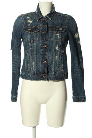 Abercrombie & Fitch Jeansjacke blau Street-Fashion-Look
