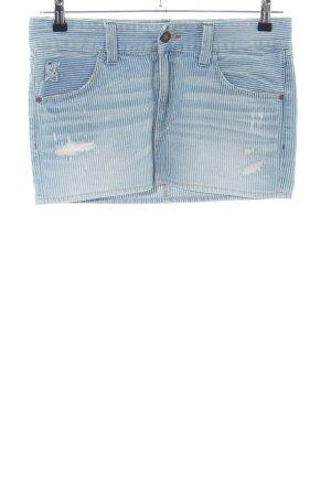 Abercrombie & Fitch Jeansrock blau Streifenmuster Casual-Look