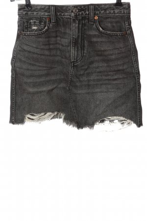 Abercrombie & Fitch Jeansrock hellgrau Casual-Look