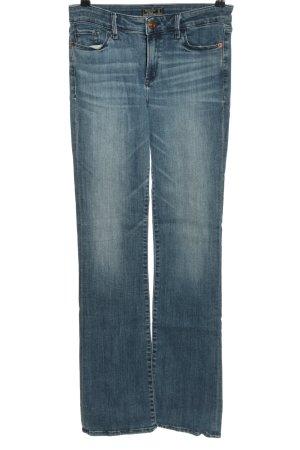 Abercrombie & Fitch Jeansowe spodnie dzwony niebieski W stylu casual