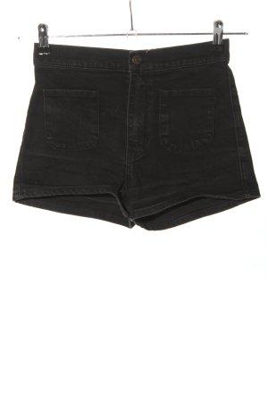 Abercrombie & Fitch Pantaloncino di jeans nero stile casual