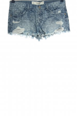 Abercrombie & Fitch Jeansshorts blau Mustermix Casual-Look