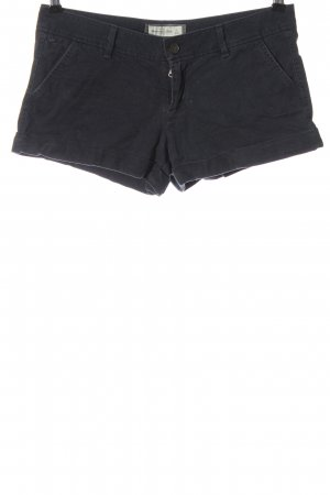 Abercrombie & Fitch Denim Shorts black embroidered lettering casual look
