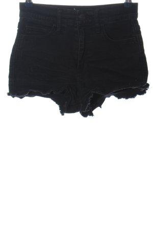 Abercrombie & Fitch Pantalón corto de tela vaquera negro look casual