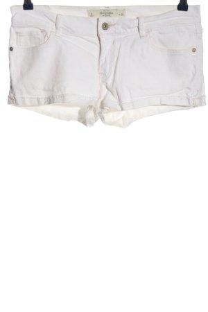 Abercrombie & Fitch Pantaloncino di jeans bianco stile casual