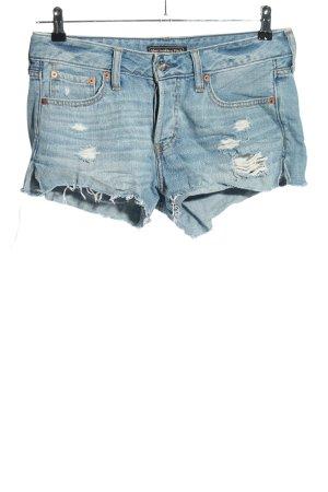 Abercrombie & Fitch Jeansshorts blau Elegant